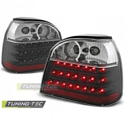 LED FEUX ARRIERE BLACK fits VW GOLF 3 09.91-08.97, Golf 3