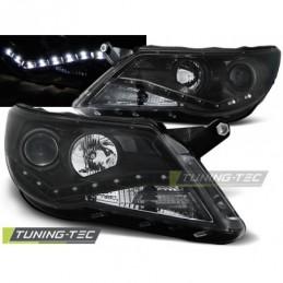 PHARES AVANTS DAYLIGHT BLACK fits VW TIGUAN 10.07-11, Tiguan