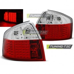 LED FEUX ARRIERE RED WHITE fits AUDI A4 10.00-10.04, A4 B6 00-05