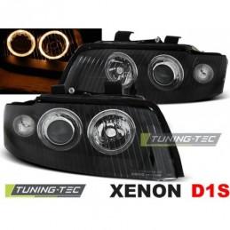 XENON PHARES AVANTS ANGEL EYES BLACK fits AUDI A4 10.00-10.04, A4 B6 00-05