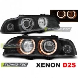 XENON PHARES AVANTS ANGEL EYES BLACK fits BMW E39 09.95-06.03, Serie 5 E39