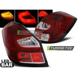 LED BAR FEUX ARRIERE RED WHIE fits SKODA FABIA II 07-06.14, Fabia II 07-15