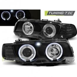 PHARES AVANTS ANGEL EYES BLACK fits BMW E38 09.98-07.01, Serie 7 E38