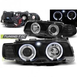 XENON PHARES AVANTS ANGEL EYES BLACK fits BMW E38 09.98-07.01, Serie 7 E38