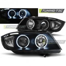 PHARES AVANTS ANGEL EYES CCFL BLACK fits BMW E90/E91 03.05-08.08, Serie 3 E90/E91