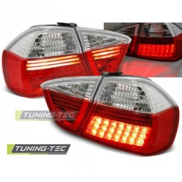 LED FEUX ARRIERE RED WHITE fits BMW E90 03.05-08.08, Serie 3 E90/E91