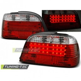 LED BAR FEUX ARRIERE RED WHIE fits BMW E38 06.94-07.01, Serie 7 E38