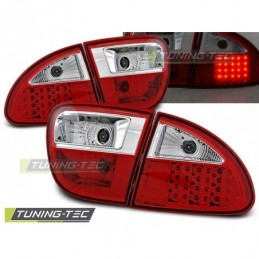 LED FEUX ARRIERE RED WHITE fits SEAT LEON 04.99-08.04, Leon I 99-06