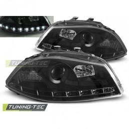 PHARES AVANTS DAYLIGHT BLACK fits SEAT IBIZA 6L 04.02-08, Ibiza 6L 02-08