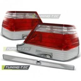 FEUX ARRIERE RED WHITE fits MERCEDES W140 95-10.98, Classe S w126/W140