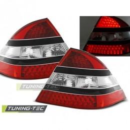 LED FEUX ARRIERE RED BLACK fits MERCEDES W220 S-KLASA 09.98-05.05,  Classe S W220
