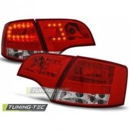 LED FEUX ARRIERE RED WHITE fits AUDI A4 B7 11.04-03.08 AVANT, A4 B7 04-08