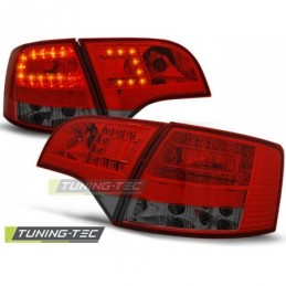 LED FEUX ARRIERE RED SMOKE fits AUDI A4 B7 11.04-03.08 AVANT, A4 B7 04-08