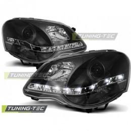PHARES AVANTS DAYLIGHT BLACK fits VW POLO 9N3 04.05-09, Polo IV 9N/9N3 01-09