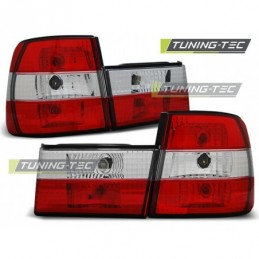 FEUX ARRIERE RED WHITE fits BMW E34 02.88-12.95 SEDAN, Serie 5 E34