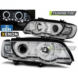XENON PHARES AVANTS ANGEL EYES CHROME fits BMW X5 E53 09.99-10.03, X5 E53