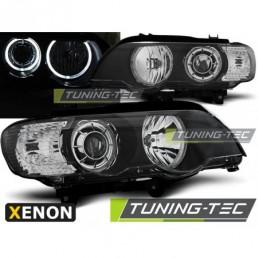 XENON PHARES AVANTS ANGEL EYES LED BLACK fits BMW X5 E53 09.99-10.03, X5 E53