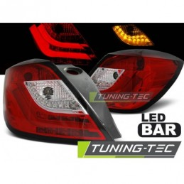OPEL ASTRA H 03.04-09 3D RED WHITE LED, Astra H