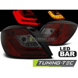 OPEL ASTRA H 03.04-09 3D RED SMOKE LED, Astra H