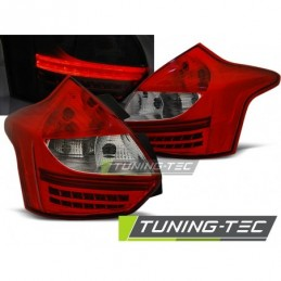 FORD FOCUS 3 11-10.14 HATCHBACK RED WHITE LED , Focus III 2010+