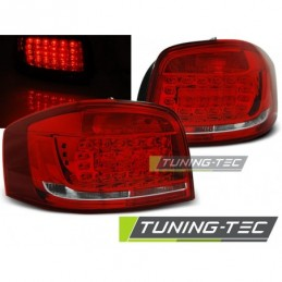 LED FEUX ARRIERE RED WHITE fits AUDI A3 08-12, A3 8V 12-16