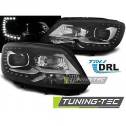 PHARES AVANTS TRUE DRL BLACK fits VW TOURAN II 08.10-15, Touran II 10-15
