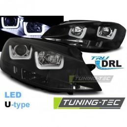 PHARES AVANTS U-LED LIGHT BLACK fits VW GOLF 7 11.12-17, Golf 7