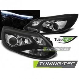 FORD FOCUS MK3 11-10.14 TUBE LIGHTS BLACK, Focus III 2010+