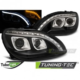 PHARES AVANTS TUBE LIGHT BLACK fits MERCEDES W220 S-KLASA 09.98-05.05,  Classe S W220