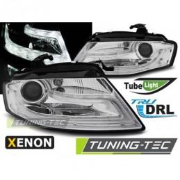 XENON PHARES AVANTS TRUE DRL CHROME fits AUDI A4 B8 04.08-11, A4 B8 08-11