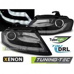 XENON PHARES AVANTS TRUE DRL BLACK fits AUDI A4 B8 04.08-11, A4 B8 08-11