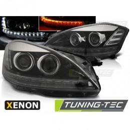 XENON PHARES AVANTS DAYLIGHT BLACK fits MERCEDES W221 05-09,  Classe S W221