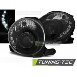 FIAT 500 07-15 BLACK LED