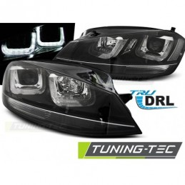 PHARES AVANTS U-LED LIGHT BLACK WITH BLACK LINE fits VW GOLF 7 11.12-17
