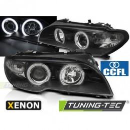 XENON PHARES AVANTS ANGEL EYES CCFL BLACK fits BMW E46 04.03-06 COUPE CABRIO