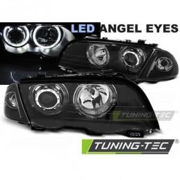 PHARES AVANTS ANGEL EYES LED BLACK fits BMW E46 05.98-08.01 S/T