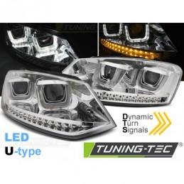 PHARES AVANTS U-LED LIGHT CHROME SEQ fits VW POLO 6R 09-03.14