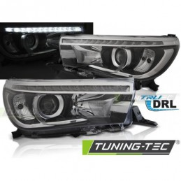 TOYOTA HILUX 16- LED PROJECTOR TRUE DRL BLACK