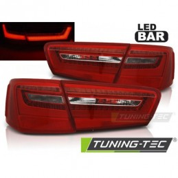 LED FEUX ARRIERE RED WHITE fits AUDI A6 C7 11-10.14