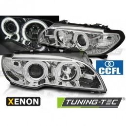 XENON PHARES AVANTS ANGEL EYES CCFL CHROME fits BMW E46 04.03-06 COUPE CABRIO
