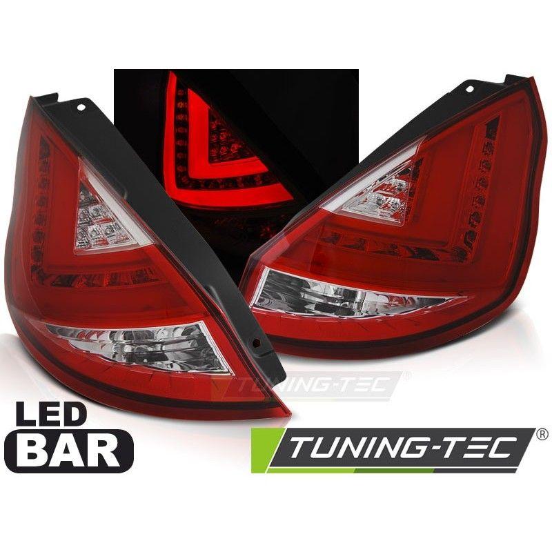 FORD FIESTA MK7 08-12 HB RED WHITE LED BAR