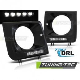 PHARES AVANTS FRAME LED DRL BLACK fits MERCEDES W461,W463 01-12