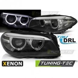 XENON PHARES AVANTS ANGEL EYES LED DRL BLACK fits BMW F10,F11 10-07.13