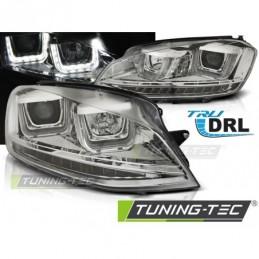 PHARES AVANTS U-LED LIGHT DRL CHROME fits VW GOLF 7 11.12-17