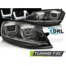 PHARES AVANTS U-LED LIGHT DRL BLACK fits VW GOLF 7 11.12-17