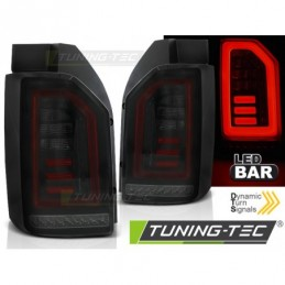 LED BAR FEUX ARRIERE SMOKE BLACK RED fits VW T6 15-19