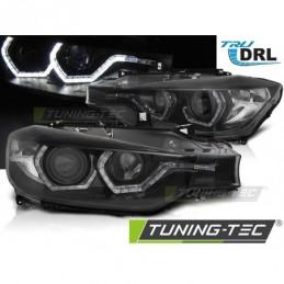 PHARES AVANTS ANGEL EYES LED DRL BLACK fits BMW F30/F31 10.11 - 05.15