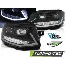 PHARES AVANTS TUBE LIGHT DRL BLACK CHROME fits VW T6 15-19