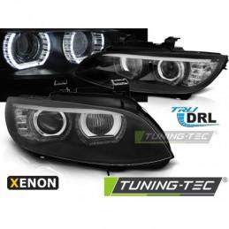 XENON PHARES AVANTS ANGEL EYES LED BLACK AFS fits BMW E92/E93 06-10