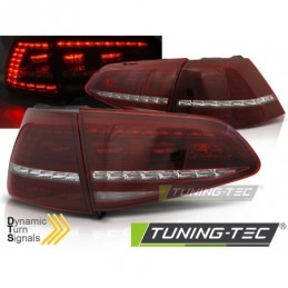 LED FEUX ARRIERE SPORT RED WHITE SEQ fits VW GOLF 7 13-17